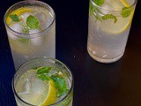Mint mojito mocktail(with coconut pulp)
