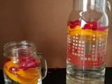 Rose and orange infused water