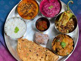 Special thali meal (vegetarian)