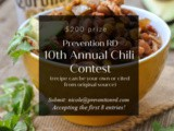 10th Annual Chili Contest — Now Accepting Entries