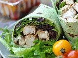 Balsamic Chicken Goat Cheese Wraps + Weekly Menu