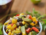 Black Bean and Corn Salad + Weekly Menu