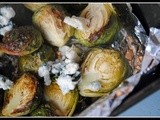 Blue Cheese Roasted Brussels Sprouts