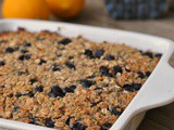 Blueberry-Lemon Baked Oatmeal