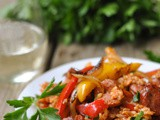 Cajun Sausage and Pepper Rice Skillet