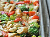 Cashew Chicken Sheet Pan Meal + Weekly Menu