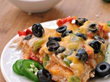 Chicken and Cheese Tortilla Pie + Weekly Menu