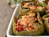 Chicken-Stuffed Green Peppers