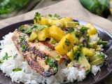 Cilantro-Lime Grilled Chicken with Mango-Avocado Salsa + Weekly Menu