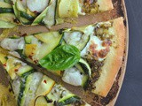 Green Goddess Pesto-Squash Pizza…with Mr. Prevention