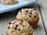 Healthy Zucchini Chocolate Chip Muffins + Weekly Menu