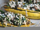 Kale and Quinoa-Stuffed Delicata Squash