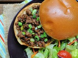 Korean Beef Sloppy Joes + Weekly Menu