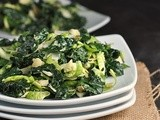 Massaged Kale and Brussels Sprouts Salad with Tahini-Maple Dressing