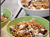 Meatless Monday: Crunchy Wheat Berry Salad with Cranberries and Goat Cheese