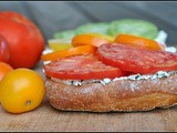 Meatless Monday: Heirloom Tomato Bruschetta with Basil Ricotta