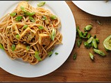 Noodles with Peanut-Lime Vinaigrette and Tofu
