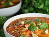 One Pot Chicken and Rice Fajita Soup