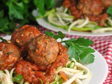 Paleo Italian Meatballs with Marinara Sauce