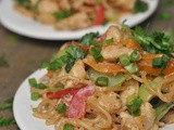 Peanut Sesame Noodles with Chicken and Veggies