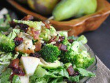 Pear, Apple, and Bacon Salad with Creamy Poppy Seed Dressing + Weekly Menu