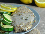 Pecan-Crusted Chicken with Lemony Caper Sauce