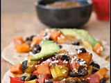 Roasted Vegetable and Black Bean Tacos {vegan}
