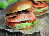 Salmon blt with Lemon-Dill Mayonnaise