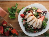 Strawberry Chicken Salad with Strawberry Vinaigrette…+ some pretty exciting news