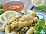 Summer Squash and Basil Pasta