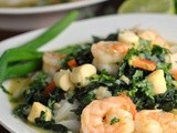 Thai Green Curry with Shrimp, Scallops, and Kale