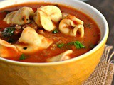 Tortellini Soup with Italian Sausage and Spinach + Weekly Menu