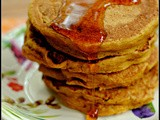 Whole Wheat Vegan Pumpkin Pie Pancakes