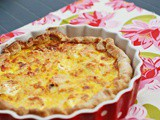 Leek, salmon and goat cheese quiche