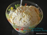No-cook No churn Mango IceCream recipe,how to make Icecream using whipped cream