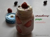Powerpack strawberry grape smoothie recipe, break-fast strawberry smooothie reicpe