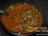 Recipe : Moth dal or Moth curry | how to make Matki Masala