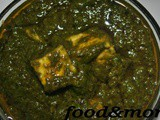 Recipe : Palak Paneer/Indian cottage cheese in Spinach Gravy
