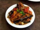 Achari Baingan/Eggplant with Pickled Spices