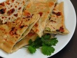 Afghani Bolani/Afghani Potato Stuffed Flatbread