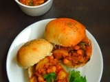 Channa Aloo Bhaji Burger/Chickpeas Potato Curry Burger Sandwich