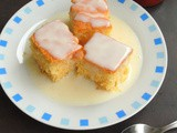 Cottage Pudding with Vanilla Sauce