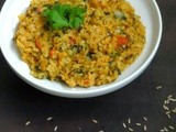 Drumstick Leaves, Brown Rice & Dal Bhath
