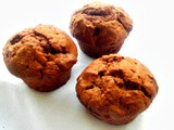 Eggless Apple & Carrot Breakfast Chocolate Muffins