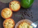 Eggless Butterfree Avocado Chocolate Chips Muffins - a Guest Post to Savitha