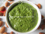 Cilantro Almond Pesto /Sauce – Bow Tie Pasta with Cilantro Almond Pesto