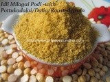 Idli Milagai Podi – 2/Idli Podi with Roasted Gram/Idli Milagai Podit with Pottukadalai
