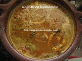 Kola Meen Kuzhambu/Kola Meen Kuzhambu with Coconut Milk/Flying Fish Gravy/Flying Fish Gravy with Coconut Milk