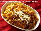 Red Sauce Pasta Recipe/Fusili Red Sauce Pasta/Tomato Pasta Recipe/Homemade Pasta Sauce Recipe/How to make Pasta Sauce at home/Pasta with Fresh Tomato Sauce