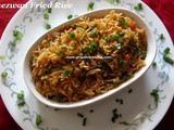 Schezwan Fried Rice Recipe/Schezwan Fried Rice with Homemade Schezwan Sauce/Schezwan Fried Rice with Step by Step photos